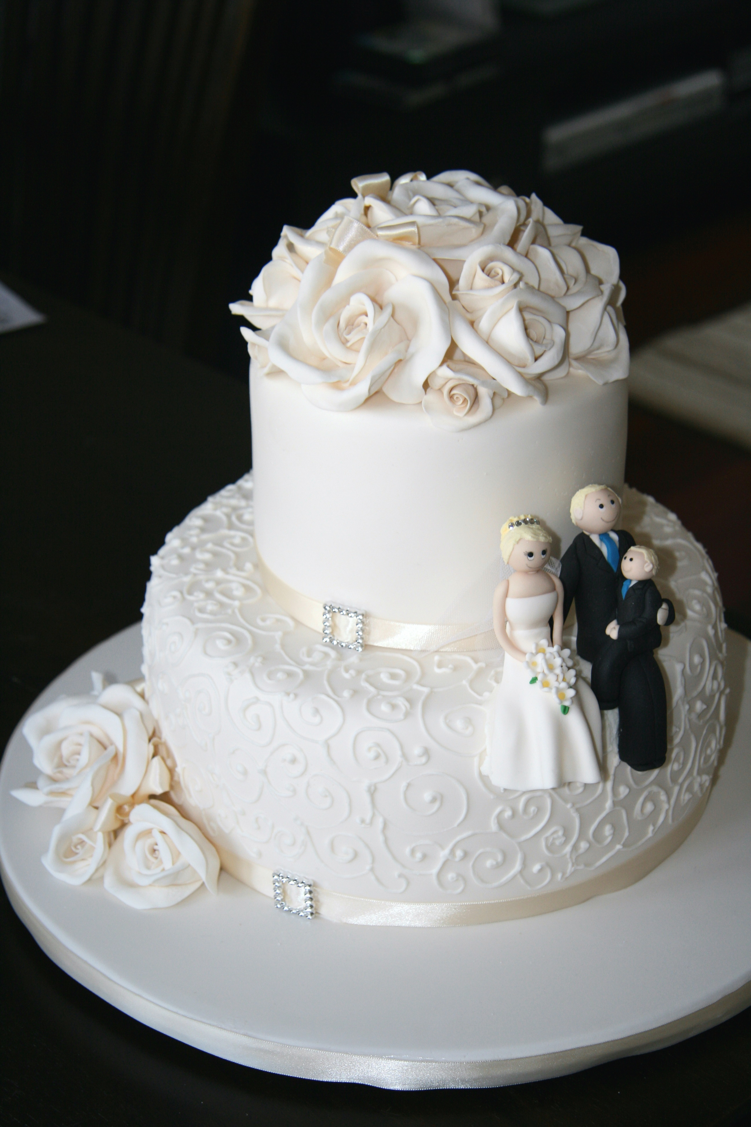 Cheap wedding cakes for the holiday: Pictures of simple 2 layer ...